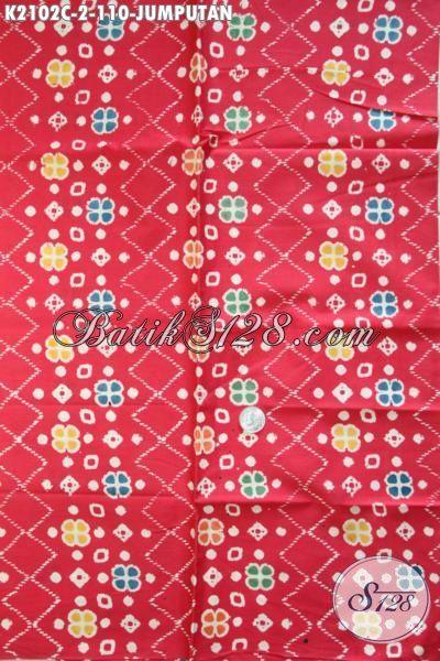 Toko Produk Batik Online Terlengkap, Sedia Kain Batik Halus Warna Merah Motif Unik Proses Cap, Batik Solo Trendy Bahan Busana Pria Lengan Pendek Untuk Tampil Lebih Bergaya