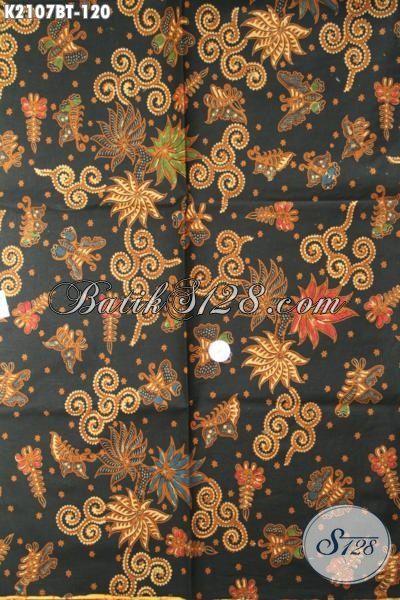 Batik Jawa Elegan Motif Bagus, Kain Batik Klasik Bahan Kemeja Pria Tampil Gagah Dan Berkarakter, Proses Kombinasi Tulis [K2107BT-240×105 cm]