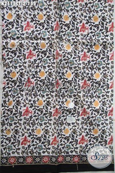 Kain Batik Modern Buatan Solo Bahan Pakaian Santai Kwalitas Bagus Proses Cap Tulis, Batik Jawa Berkelas Cocok Juga Buat Baju Pesta
