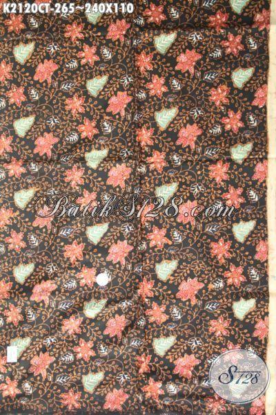 Batik Kain Bunga-Bunga Kwalitas Halus Proses Cap Tulis, Batik Jawa Terkini Pilihan Tepat Untuk Bahan Baju Kerja Nan Berkelas