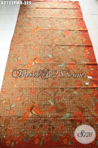 Batik Modern Warna Elegan Motif Bagus Dan Berkelas, Bahan Aneka Busana Wanita Pria Terbaru Proses Kombinasi Tulis Kwalitas Premium [K2122PM-240×100 cm]