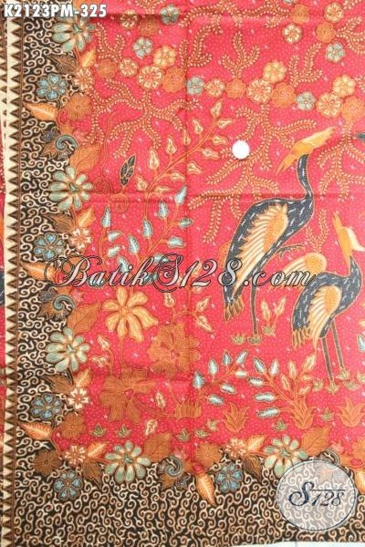 Kain Batik Berkelas Produk Terbaru Dari Solo, Batik Jawa Etnik Bahan Pakaian Modern Proses Kombinasi Tulis Penunjang Penampilan Pria Dan Wanita Karir Masa Kini [K2123PM-240×100 cm]