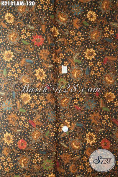 Kain Batik Motif Elegan Proses Kombinasi Tulis, Batik Bahan Blus Wanita Tampil Gaya Dan Terlihat Mewah [K2131AM-240x105cm]