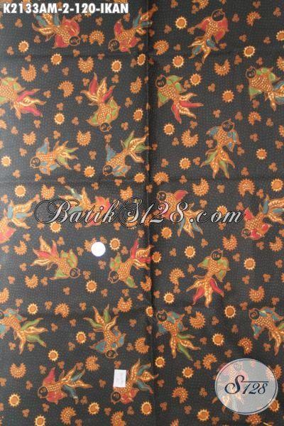 Kain Batik Kombinasi Tulis Motif Ikan Trend Terbaru, Batik Bahan Baju Pria Dan Wanita Untuk Tampil Beda Dan Gaya [K2133AM-240x105cm]