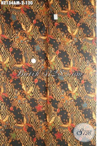 Batik Jawa Tengah Halus Motif Terkini, Kain Batik Elegan Motif Kupu Proses Kombinasi Tulis Pas Banget Untuk Baju Formal