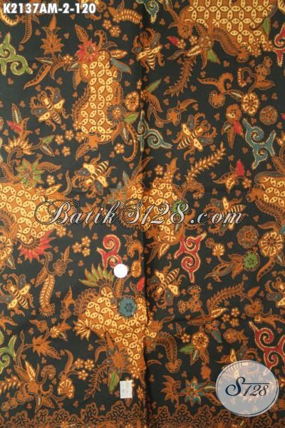 Batik Klasik Modern Motif Mewah Proses Kombinasi Tulis, Batik Jawa Tengah Paling Laris Cocok Buat Baju Kerja Wanita Pria [K2137AM-240x105cm]