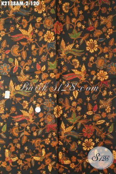 Kain Batik Bahan Dress Wanita Tampil Mempesona, Batik Jawa Halus Buatan Solo Proses Kombinasi Tulis Hanya120K