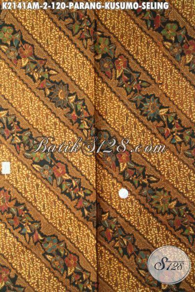 Batik Solo Klasik Halus Kombinasi Tulis, Kain Batik Parang Kusumo Seling Kwalitas Premium Harga Hanya 100 Ribuan, Cocok Buat Busana Formal [K2141AM-240x105cm]