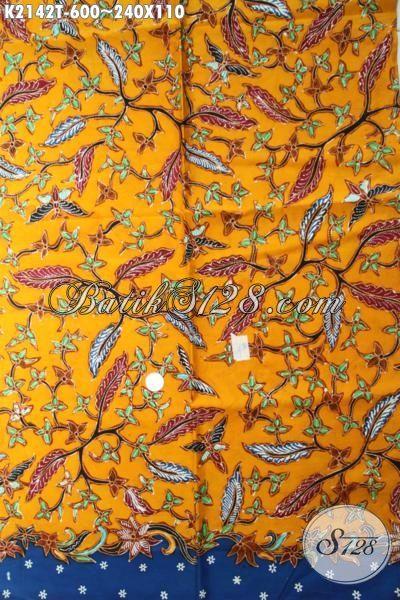 Kain Batik Mewah Produk Terbaru Dari Solo, Batik Bahan Busana Berkelas Dengan Warna Modern Berpadu Motif Terkini Yang Fashionable Untuk Baju Formal Dan Santai