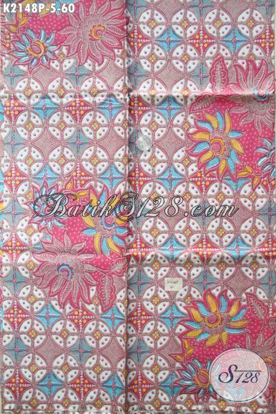 Jual Kain Batik Online Produk Solo Asli, Batik Printing Motif Keren Bahan Busana Wanita Pria Trend Mode Terkini