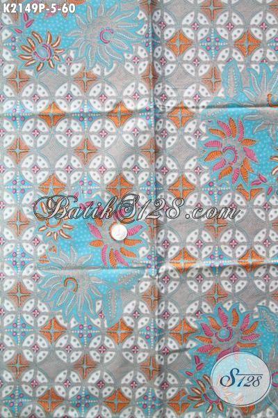 Batik Jawa Modern Motif Terbaru Yang Di Sukai Para Wanita Untuk Bahan Busana Santai, Batik Printing Solo Halus Harga Murah Meriah
