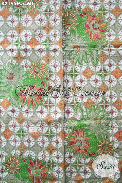 Agen Online Produk Kain Batik Terlengkap, Sedia Batik Printing Halus Bahan Pakaian Wanita Karir Motif Trendy Harga Murmer [K2152P-200×105 cm]