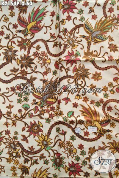 Batik Printing Trendy Motif Bunga Kwalitas Halus, Batik Jawa Tengah Terbaru Keren Untuk Dress Serta Modis Buat Blus Kerja
