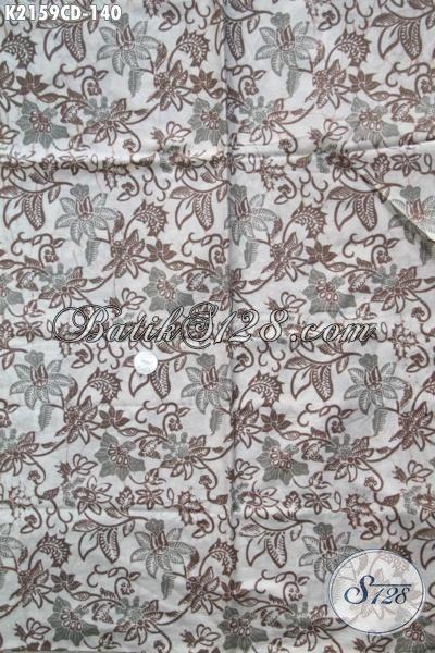 Kain Batik Modern Klasik Khas Solo Jawa Tengah, Batik Halus Proses Cap Bledak Kwalitas Istimewa Bahan Pakaian Berkelas