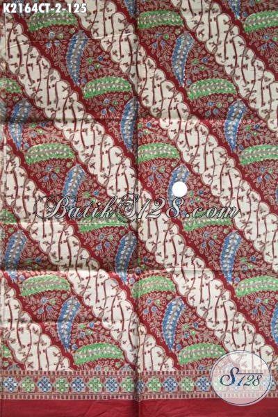 Batik Kain Berkelas Bahan Busana Pria, Batik Halus Motif Trendy Penunjang Penampilan Berkelas Lelaki Kantoran [K2164CT-200×105 cm]