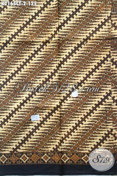 Batik Parang Cap Tulis Bahan Busana Formal Tampil Lebih Elegan, Kain Batik Klasik Istimewa Buatan Solo Harga Terjangkau, Cocok Untuk Kemeja Pria Muda Dan Dewasa