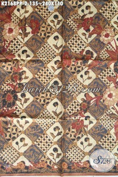 Batik Printing Istimewa Motif Klasik Nan Mewah, Kain Batik Bahan Busana Kwalitas Bagus Modis Dan Nyaman Di Pakai
