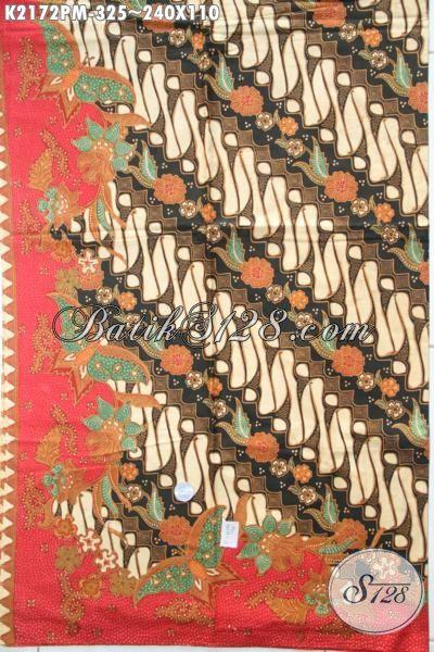 Batik Kain Parang Bunga Elegan Kwalitas Halus, Batik Klasik Kombinasi Tulis Istimewa Untuk Busana Formal