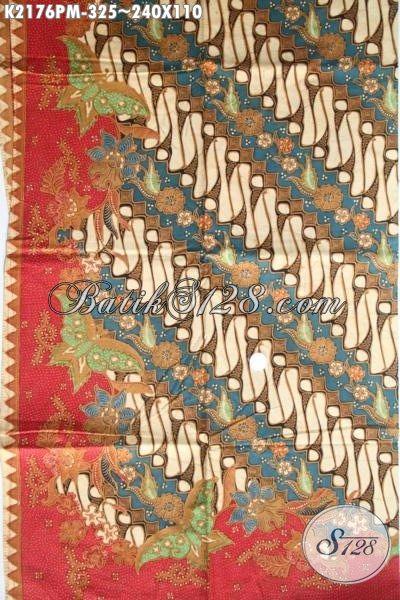 Batik Parang Klasik Elegan Untuk Hem Pria, Kain Batik Jawa Tengah Halus Kombinasi Tulis Kwalitas Premium
