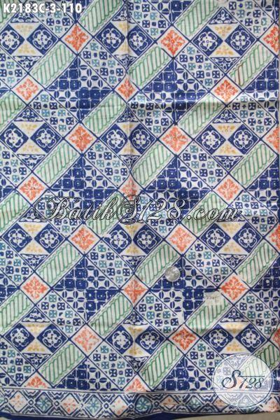 Sedia Batik Kain Modern Asli Buatan Solo, Jual Online Batik Cap Bahan Dress Wanita Masa Kini Penunjang Penampilan Sehari-hari