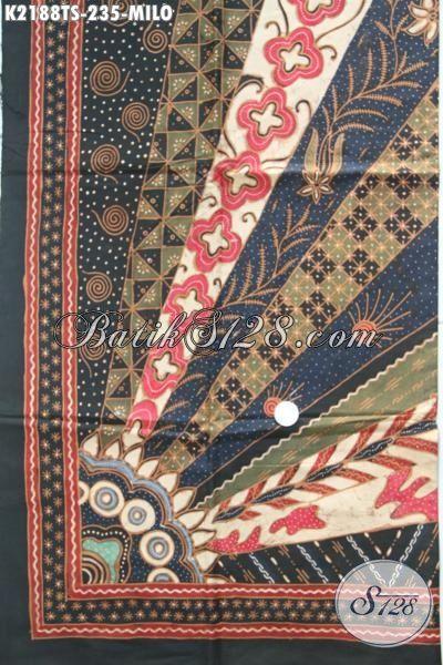 Jual Batik Kain Premium Motif Milo, Batik Klasik Tulis Soga Halus Dan Adem Nyaman Untuk Busana Kerja Desain Formal