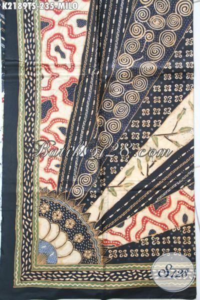 Agen Kain Batik Solo Online, Jual Kain Batik Tulis Soga Harga Grosir, Batik Klasik Motif Milo Bahan Busana Kwalitas Tinggi Hanya 200 Ribuan [K2189TS-200x110cm]