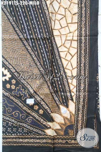 Batik Premium Tulis Soga Bahan Pakaian Istimewa Motif Milo, Kain Batik Klasik Jawa Tengah Khas Solo Membuat Penampilan Lebih Berwibawa