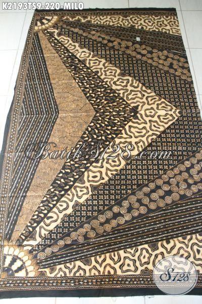 Toko Busana Batik Online, Sedia Kain Batik Bahan Blus Mewah Motif Milo, Batik Tulis Soga Klasik Untuk Kemeja Pria Tampil Lebih Berwibawa