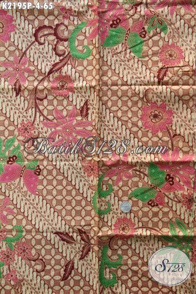 Kain Batik Murah Motif Mewah Proses Printing, Batik Jawa Halus Bahan Busana Wanita Untuk Terlihat Lebih Berkharisma