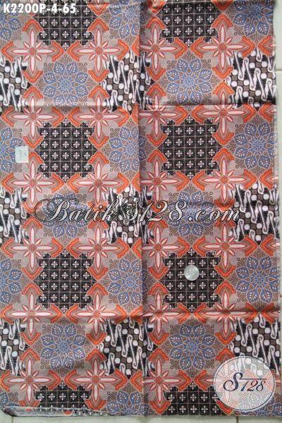 Jual Batik Bahan Kemeja Pria, Produk Kain Batik Terbaru Dengan Motif Keren Proses Printing Kwalitas Mewah Harga Murah