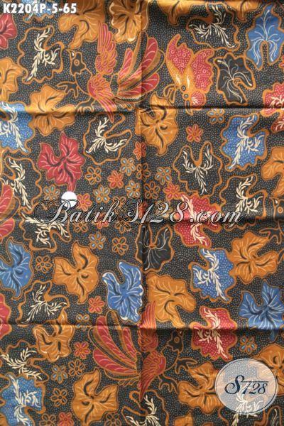 Batik Kain Bahan Busana Perempuan, Batik Halus Motif Bagus Dan Keren Proses Printing, Bisa Untuk Baju Kerja Dan Pakaian Santai [K2204P-200 x 110cm]