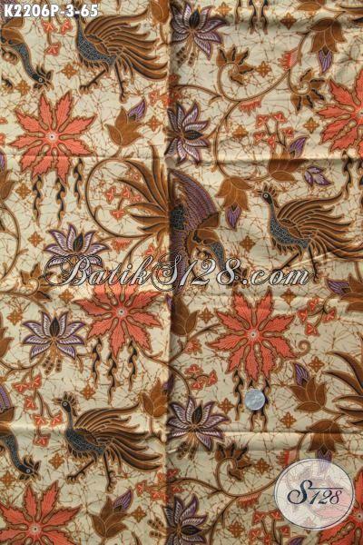 Sedia Kain Batik Jawa Tengah Halus Proses Printing, Batik Bahan Busana Kwalitas Halus Motif Mewah Harga Murah
