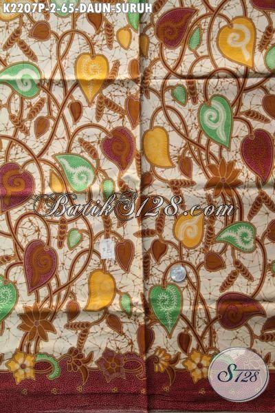 Batik Printing Solo Terbaru Motif Daun Sirih Bahan Busana Wanita Tampil Lebih Elegan Dan Keren