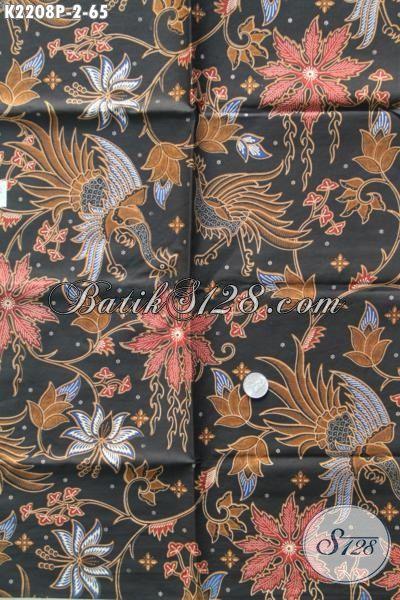 Batik Printing Dasar Hitam Elegan Berpadu Motif Modern Yang Berkelas Dan Fashionable, Pas Banget Buat Baju Kerja Dan Kondangan [K2208P-200 x 110cm]