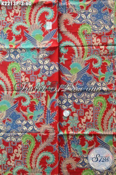Batik Kain Motif Mewah Proses Prnting, Batik Solo Kwalitas Bagus Berbahan Halus Cocok Buat Pakaian Kerja Tampil Makin Mempesona