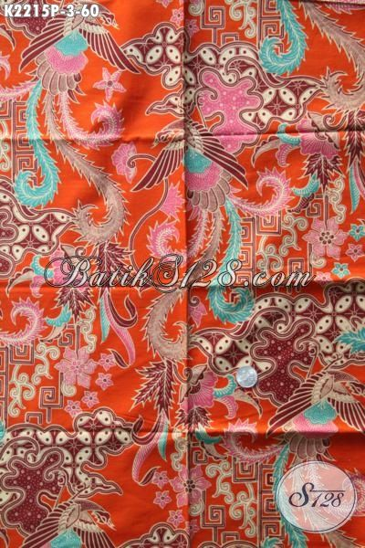 Jual Batik Solo Warna Orange Dengan Kwalitas Bagus Dan Halus Harga Murah Meriah, Batik Solo Motid Berkelas Pilihan Tepat Untuk Pakaian Pria Wanita Karir