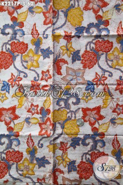 Agen Produk Batik Jawa Tengah Online, Jual Kain Batik Bagus Harga Murah Kwalitas Mewah, Batik Print Motif Bunga Bahan Pakaian Wanita Untuk Segala Acara