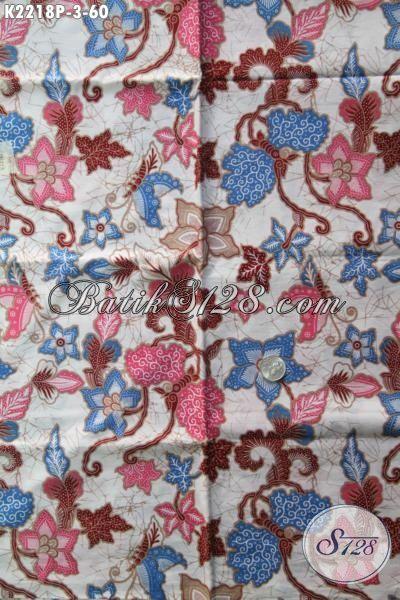 Batik Halus Motif Bagus Kwalitas Istimewa, Bahan Busana Batik Perempuan Terbaru Motif Bunga Proses Printing Pilihan Tepat Untuk Busana Istimewa Dengan Harga Sangat Terjangkau