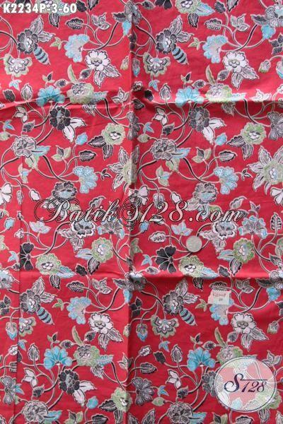 Jual Kain Batik Motif Bunga Kwalitas Bagus Harga 60K Batik Modern