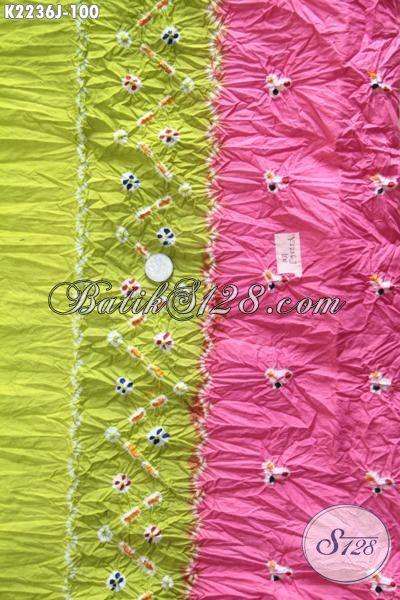 Produk Terbaru Kain Batik Khas Solo Proses Jumputan, Batik Modis Bahan Pakaian Trendy Untuk Hangouts Dan Pesta