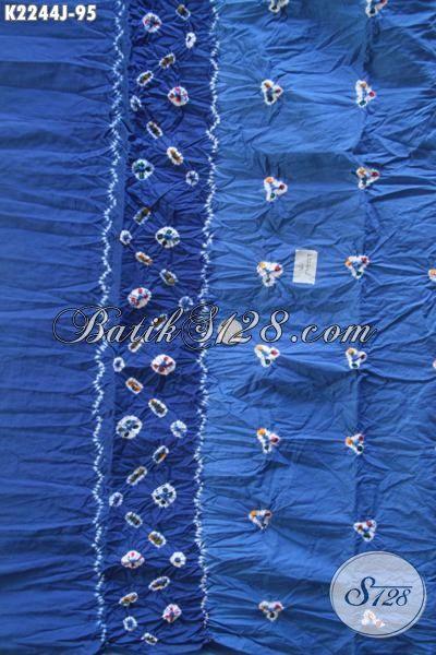 Jual Batik Jumputan Bahan Busana Atasan Untuk Wanita Muda Dan Dewasa, Kain Batik Halus Harga Terjangkau Yang Mampu Merubah Penampilan Lebih Modis [K2244J-200 x 110cm]