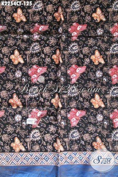 Batik Keren Motif Kupu Proses Cap Tulis Dengan Kombinasi Warna Trendy Cocok Untuk Blus Dan Dress