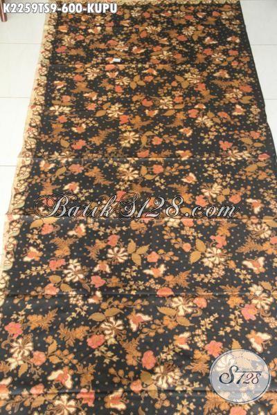Kain Batik Mewah Dan Mahal Motif Bunga Dan Kupu, Batik Halus Proses Tulis Soga Bahan Pakaian Wanita Karir Sukses Untuk Tampil Lebih Sempurna