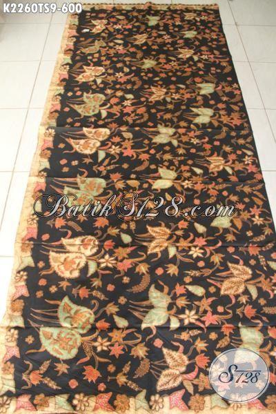 Batik Solo Istimewa Kwalitas Mewah, Batik Tulis Soga Premium Nan Halus Motif Bunga Cocok Untuk Blus Perempuan