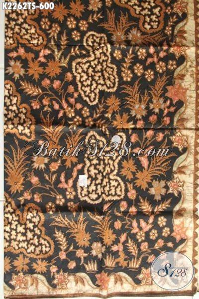 Kain Batik Premium Halus Motif Mewah Bahan Busana Berkwalitas Tinggi, Batik Solo Proses Tulis Soga Cocok Untuk Baju Formal Dan Seragam Kerja