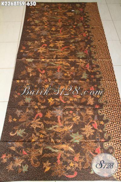 Batik Premium Buatan Solo Halus Proses Tulis Soga, Produk Kain Batik Mewah Terkini Di Jual Online Dengan Harga Grosir [K2268TS-240×105 cm]
