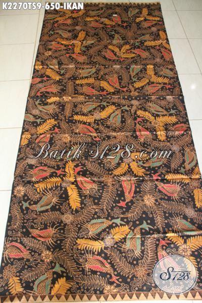 Produk Batik Kain Istimewa Proses Tulis Soga Kwalitas Tinggi Asli Buatan Solo, Batik Premium Motif Ikan Harga 600 Ribuan