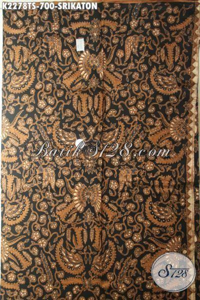 Batik Kain Elegan Bahan Kemeja Pria Motif Srikaton, Batik Jawa Halus Proses Tulis Soga Mewah Cocok Juga Untuk Blus Formal