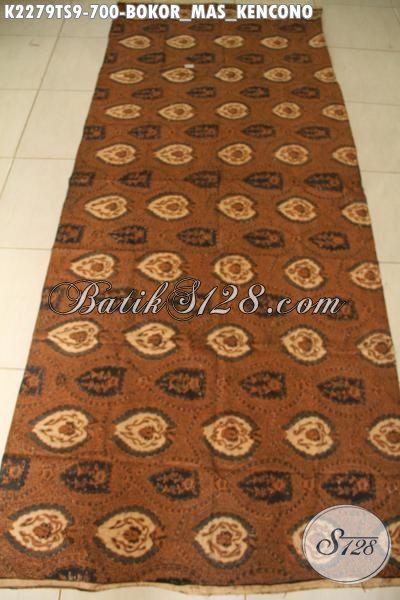 Batik Kain Istimewa Proses Tulis soga Motif Klasik Boko Masa Kencono Bahan Pakaian Kwalitas Tinggi Untuk Rapat Dan Acara Formal