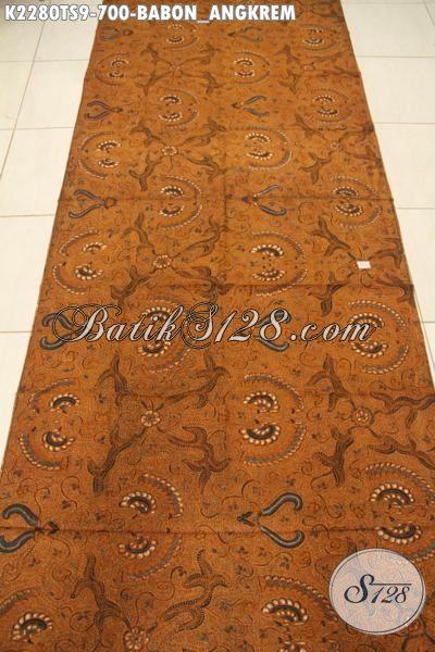 Jual Online Kain Batik Klasik Motif Babon Angkrem Kwalitas Istimewa, Batik Halus Proses Tulis Soga Buat Jarik Dan Pakaian Formal